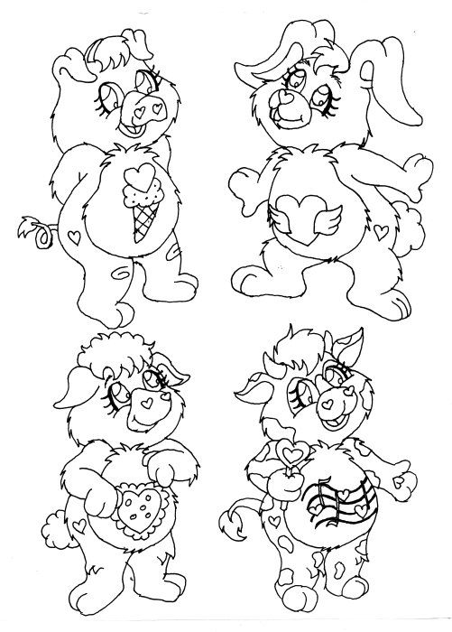 care bears cousins coloring pages - photo#5