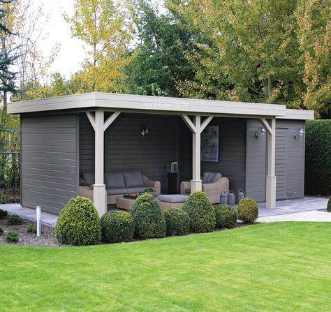 die besten 25 flachdach gartenhaus ideen auf pinterest gartenhaus flachdach modern caport. Black Bedroom Furniture Sets. Home Design Ideas