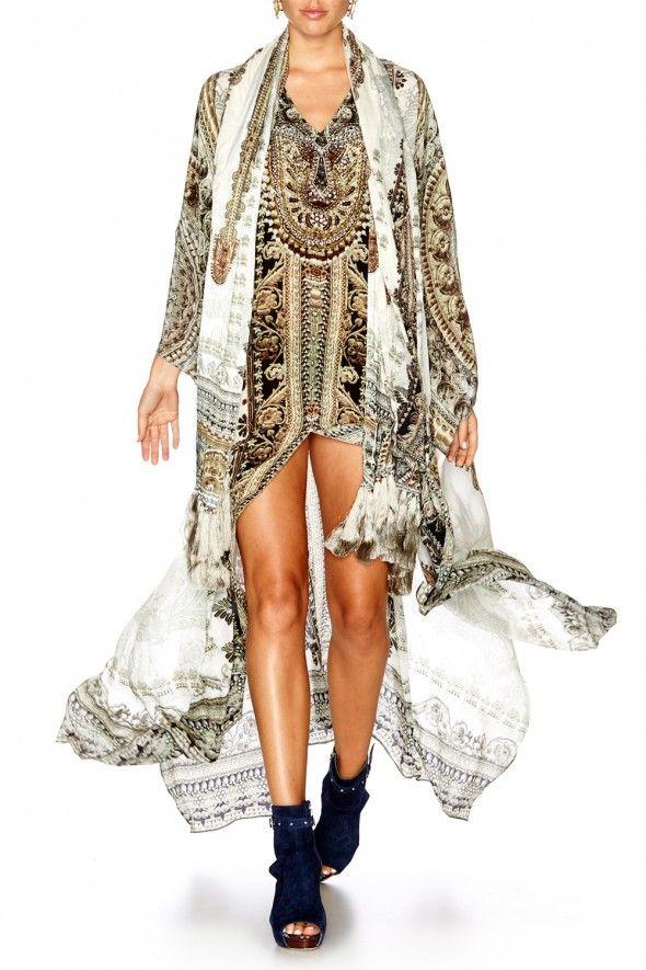 Camilla - Coats Of Light Split Front & Sleeve Kaftan