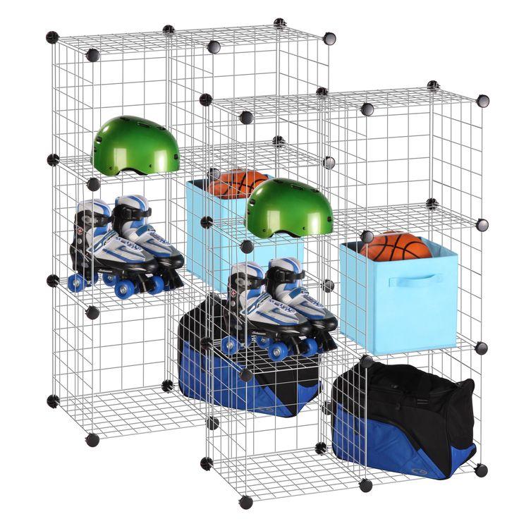 Modular Mesh Storage Cube Shelving Unit