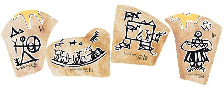 €3.40 Saamelaiskulttuuria - neljän (4) postimerkin pienoisarkki