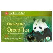 Uncle Lee's Tea Organic Green Tea Bags, 100 count