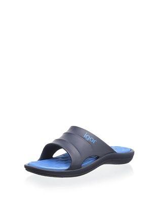 23% OFF igor Kid's Pul Sandal (Marino/Turquesa)