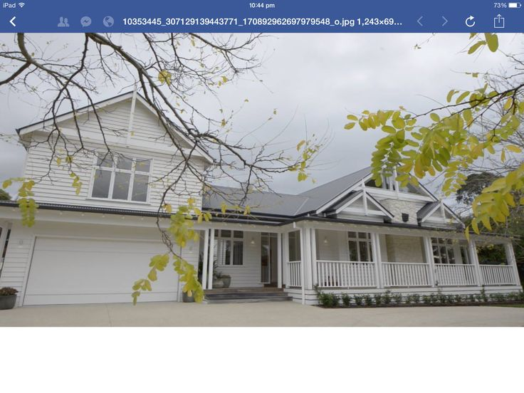 Hampton/australian homestead style house. From tv show best homes australia