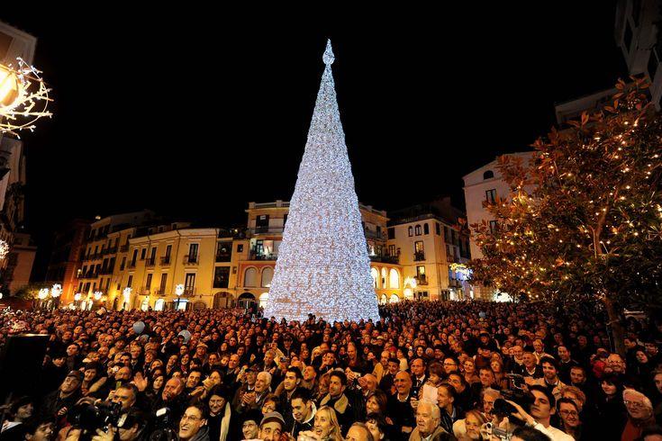 Salerno Luci d'Artista | L'Albero in Piazza Portanova