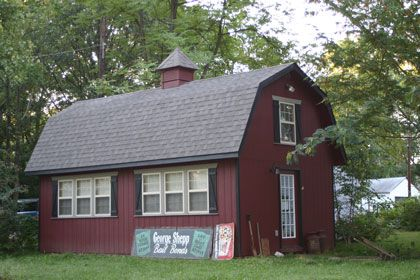 A two story maxibarn shed in maryland from sheds unlimited for Two story garages for sale