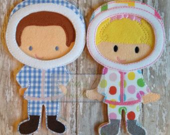 Dress A Doll Quiet Book With Personalization от NettiesNeedlesToo