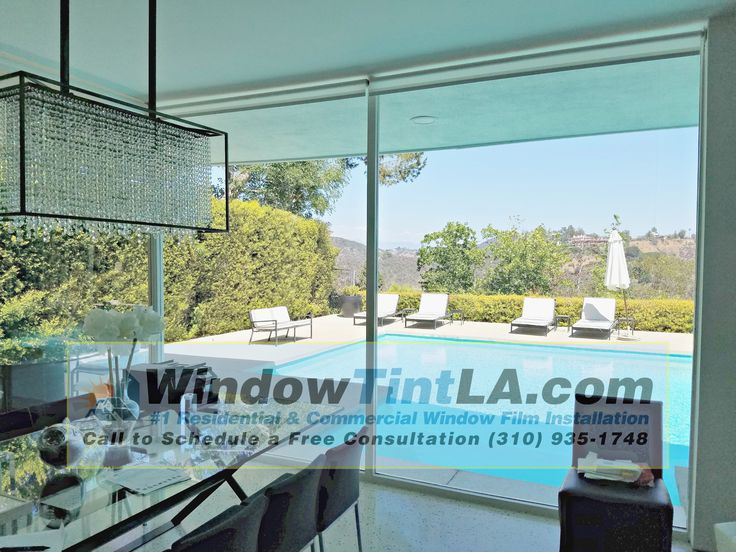 Window film provides a natural view looking in or out the window.