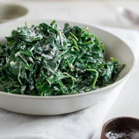Creamed baby spinach