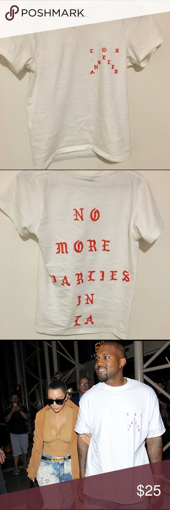 Kanye west No more parties in la shirt! Kanye west no more parties in la shirt Yeezy Tops Tees - Short Sleeve