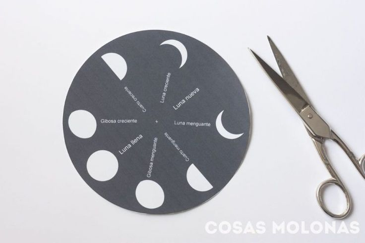 Manualidades para niños / Las fases de la luna (+ imprimible)