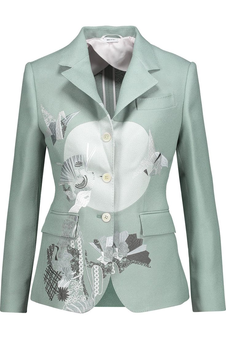 Shop on-sale Thom Browne Embroidered silk-blend crepe blazer. Browse other discount designer Jackets & more on The Most Fashionable Fashion Outlet, THE OUTNET.COM