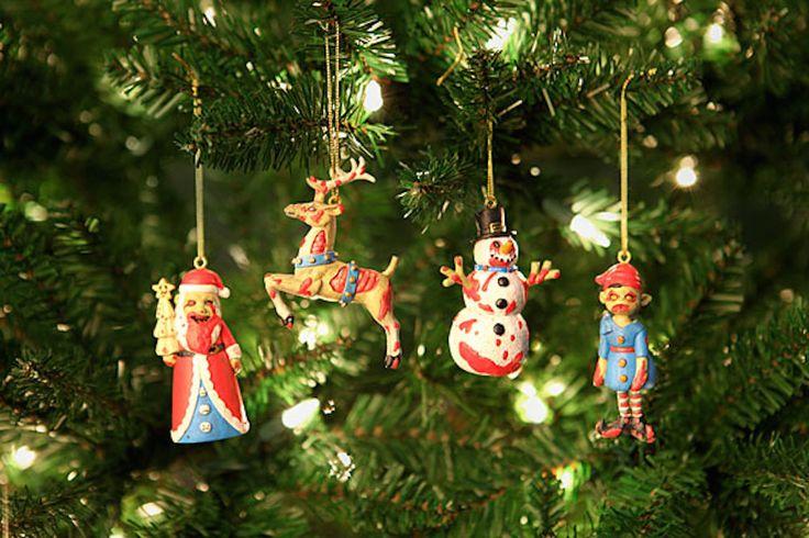 Des décorations de zombies pour votre sapin de Noël !