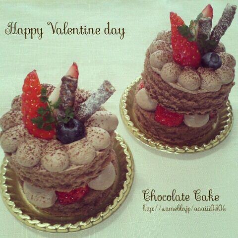 バレンタインミニケーキ♥