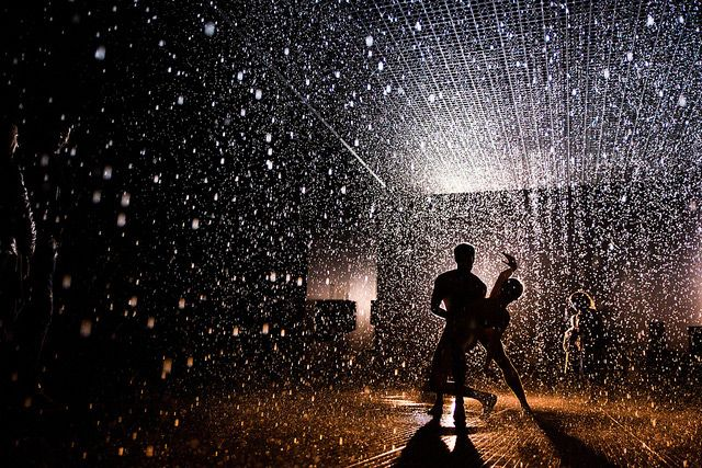 Nine of my favorite photographs seen on Flickr the last two weeks. This is a shot of Wayne McGregor's dance choreography in the Rain Room.