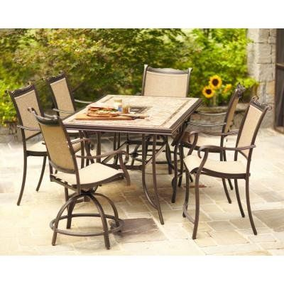 Hampton Bay Westbury 7 Piece Bar Height Patio Set