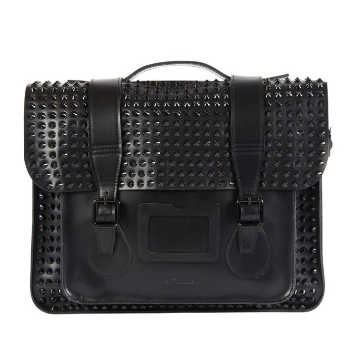 Dr. Martens studded leather satchel