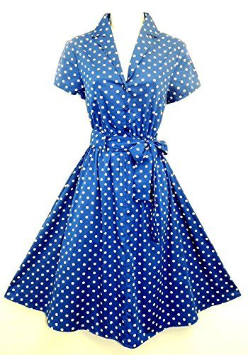 New Blue Polka Dot WWII 1940's Land Girl, Home Front classic Swing Tea Dress Viva-la-Rosa http://www.amazon.co.uk/dp/B00NQ9NCTS/ref=cm_sw_r_pi_dp_dcXjub0D3VAS4