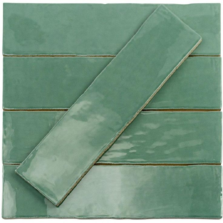 Ivy Hill Tile Catalina Green Lake 3 in. x 12 in. x 8 mm Polished Ceramic Subway Wall Tile (10.76 sq.ft./case)-EXT3RD101707