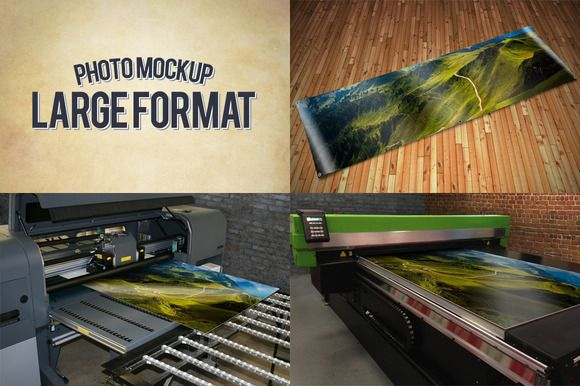 Check out Large Format Print Mockups by Exit3 on Creative Market
