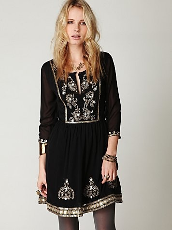 Boho dress - great look for the holidays or wedding - $168