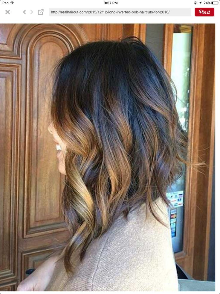 Asymmetrical long hair