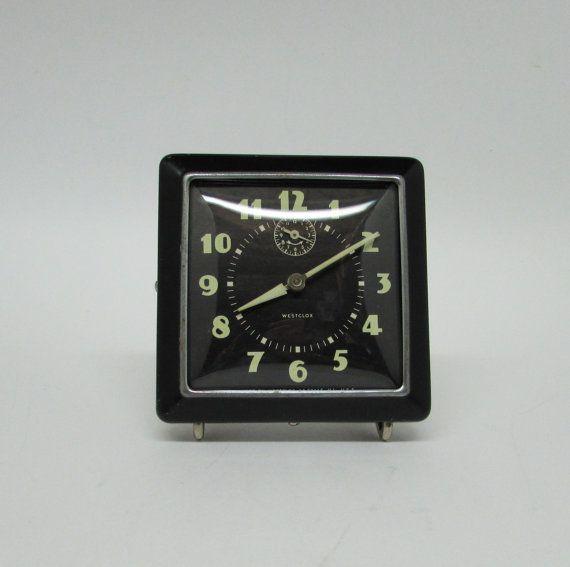 Westclox Alarm Clock 1940s ERA Mad Men Décor by BusyOnBlackwood