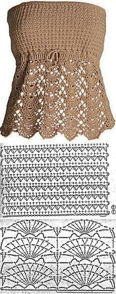 Brown top pattern