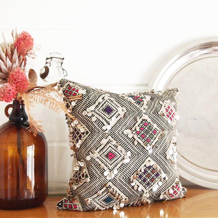 Vintage Berber Kilim-tyynynpäällinen