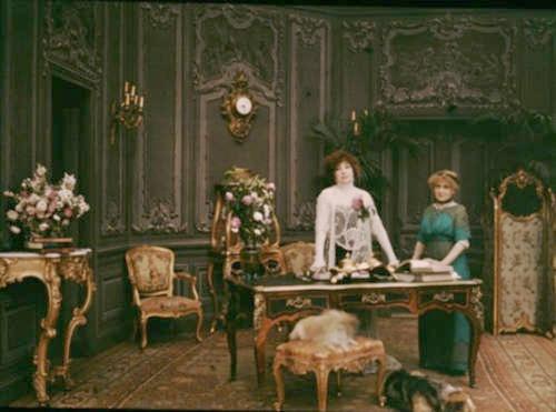 Sarah Bernhardt - autochrome, c.1910's