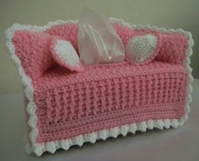 For the Love of Crochet Along: sofa tissue box cover