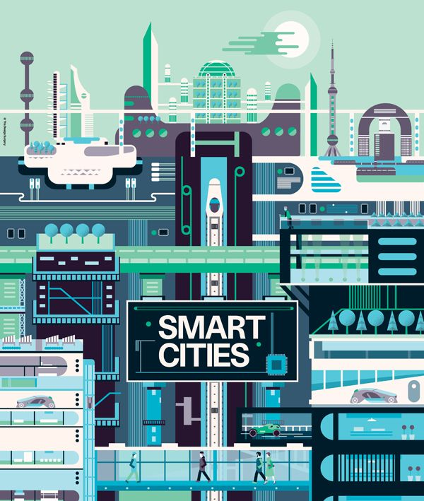Illustrations: Raconteur covers Q1 - Q2 2012 on Behance