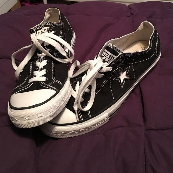 Converse one star shoes Black one star converse. Only worn a few times. Converse Shoes Sneakers