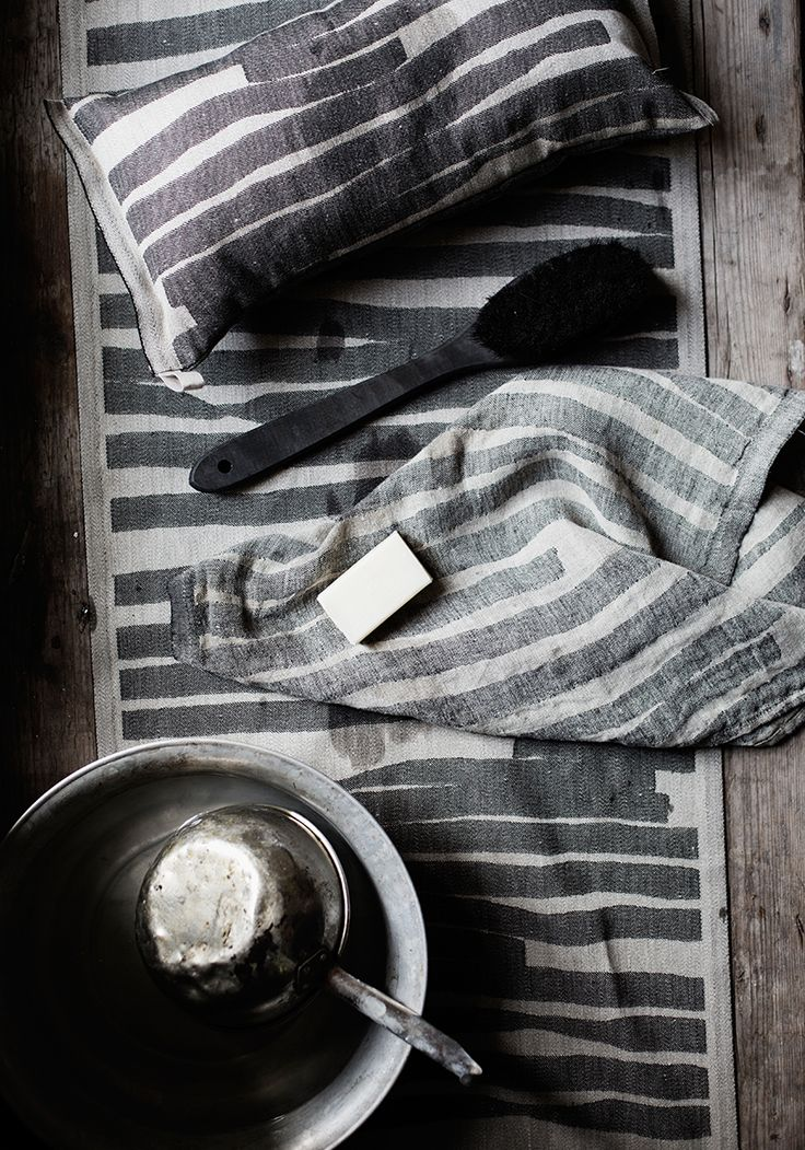 TWISTI sauna and spa textiles. Design Reeta Ek, woven in Finland by Lapuan Kankurit