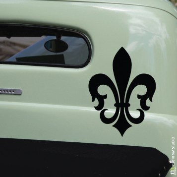 Cling st charles fleur de lis car decal wall art vinyl wall