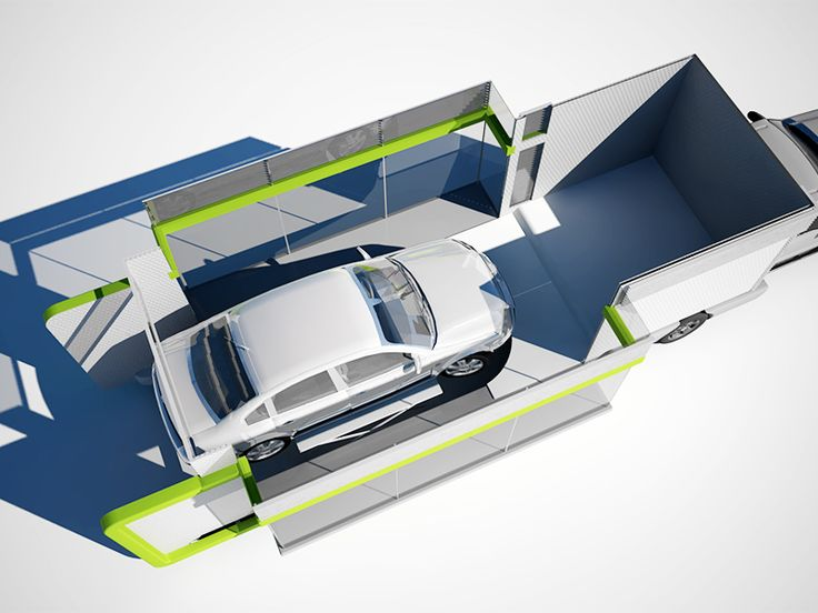 This is another 3d rendering of the prototype. Top-off, aerial view.