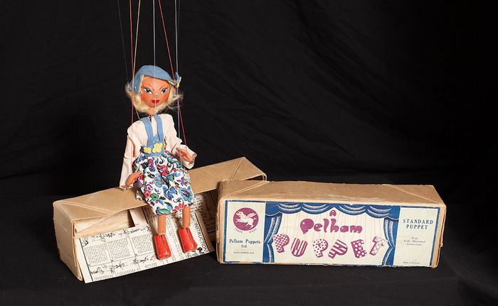 Auction item 'An Original Pelham Marionette Puppet - Girl' hosted online at 32auctions.