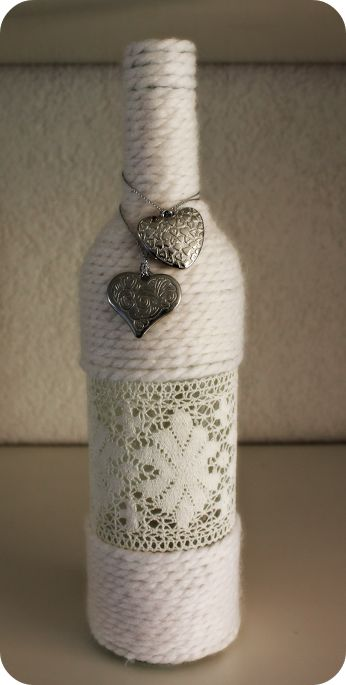 How to Do It ~ DIY - Community - Google+ Yarn wrapped bottle tutorial...link through to blog ♡