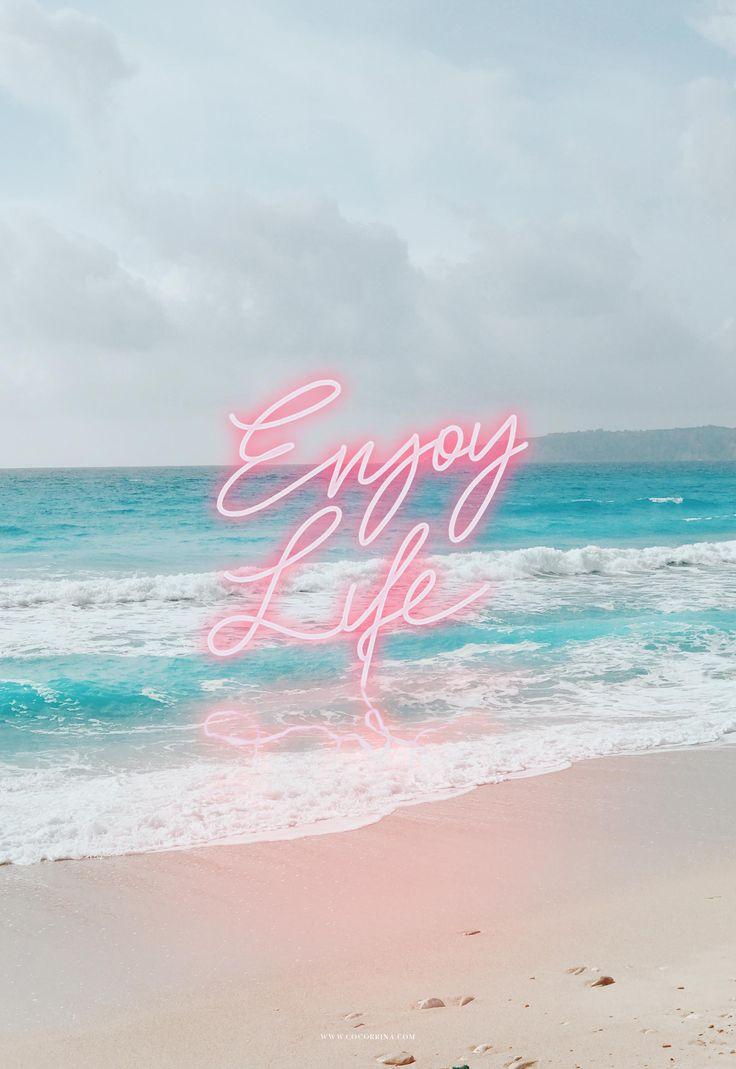 Enjoy Life Neon / by Cocorrina / iPhone wallpaper