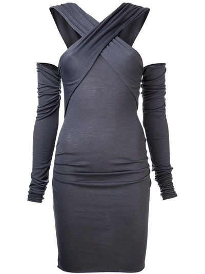 JULIA CLANCEY 'Wrap' Dress #grey #wrapdress #fitted #costumedesign