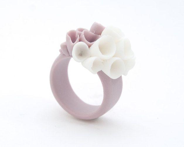 Great gift for pastels lovers. Engagement Rings – La-Rochelle Porcelain Purple Ring – a unique product by MaaPstudio via en.DaWanda.com