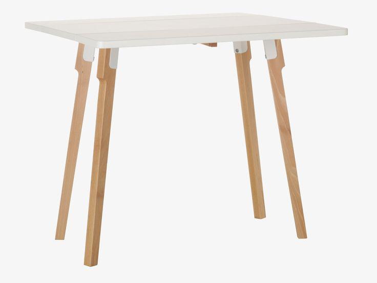 CHURCHILL WHITES Wood White folding dining table - Dining Furniture- HabitatUK