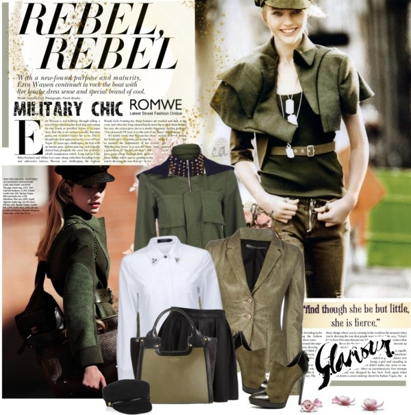 """Military chic"" by violetta-valery on Polyvore"
