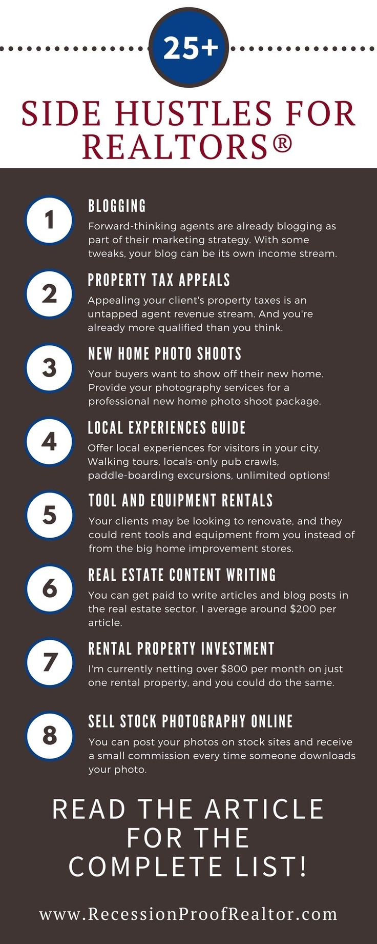 Impressive list of over 25 ways to make money as a real estate agent