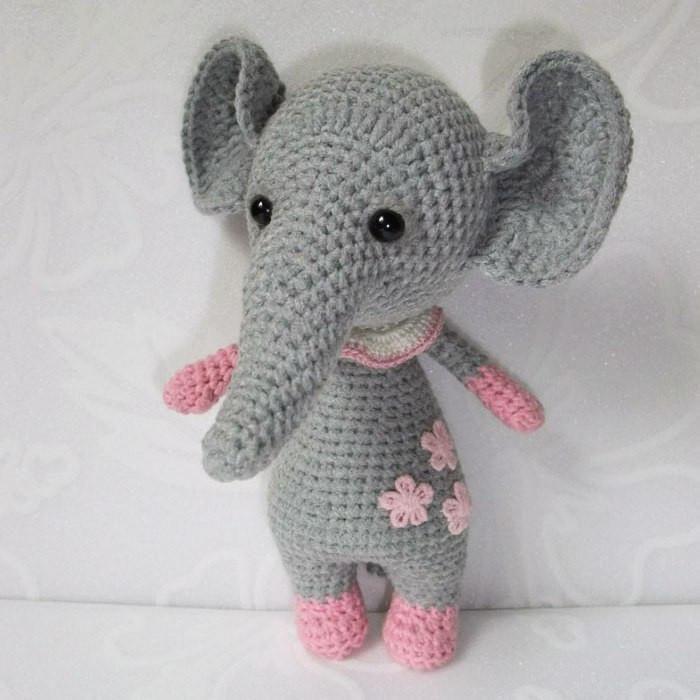 Baby elephant amigurumi pattern – printable PDF