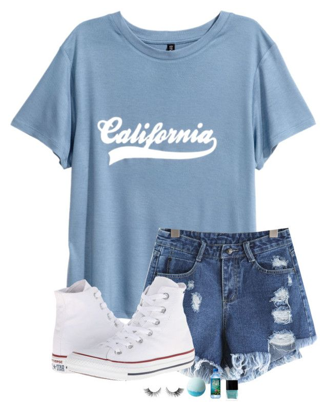 """""""•Cali•"""" by kolbee24 ❤ liked on Polyvore featuring beauty, Converse, Disney, Butter London and vintage"""