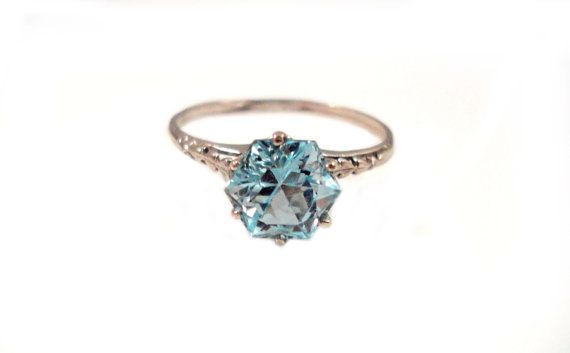 This aquamarine ring is a great alternative to the traditional engagement ring. And it's less than $500.