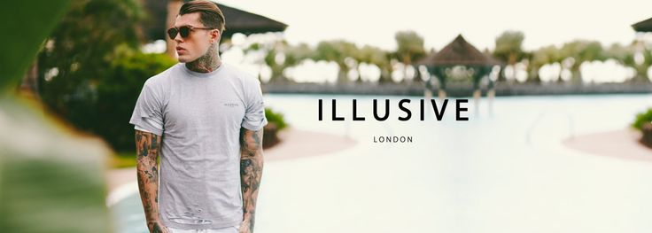 Illusive London Double Layer Ripped Tee - Grey