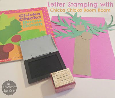 Chicka Chicka Boom Boom Letter Activities {Bill Martin Jr Virtual Book Club for Kids} hosted by The Educators' Spin On It