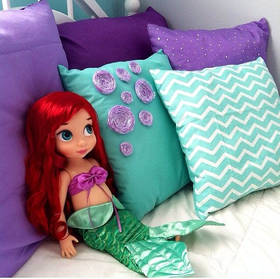 Ariel Inspired Pillows on Etsy, $20.00